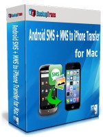 Android SMS + MMS to iPhone Transfer for Mac