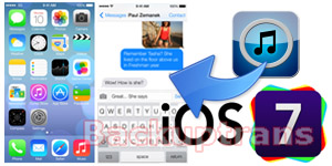 Restore iPhone SMS from iTunes Backup after updating to iOS 7