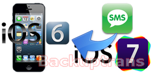 Restore SMS from iOS 7 Backup to iOS 6 iPhone with ease