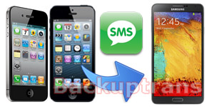 Transfer SMS MMS from iPhone to Galaxy Note 3