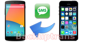 Transfer SMS MMS Messages from iPhone to Nexus 5 Hangouts