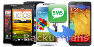 Transfer SMS MMS to Galaxy Note 3 from an Android Phone