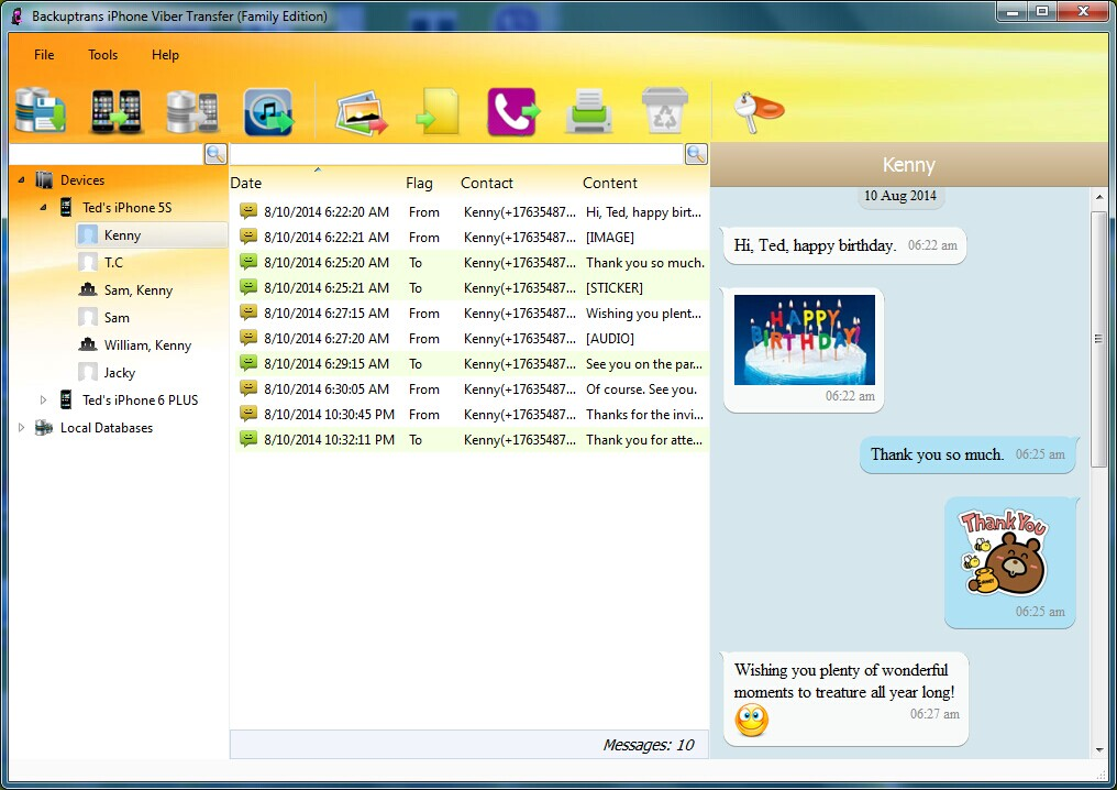 Viber, Backup and Restore Viber Chat History Screenshot