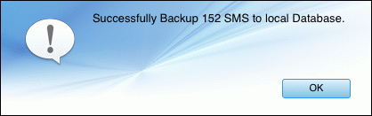backup Android SMS to Mac successfully