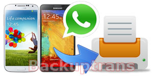 Print WhatsApp Messages from Android on Computer