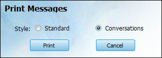 choose a printing style to print iPhone SMS & MMS on PC
