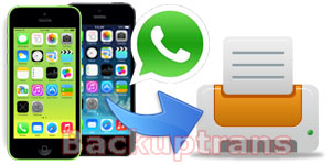 Print iPhone WhatsApp Conversation Messages on Computer
