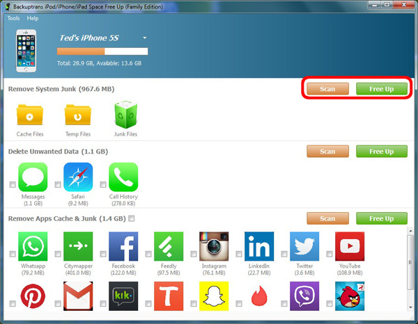 Free Up Storage Space on iPhone iPad or iPod