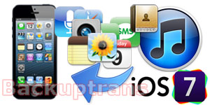 Recover and Restore iPod iPad iPhone data from iOS 7 iTunes Backup