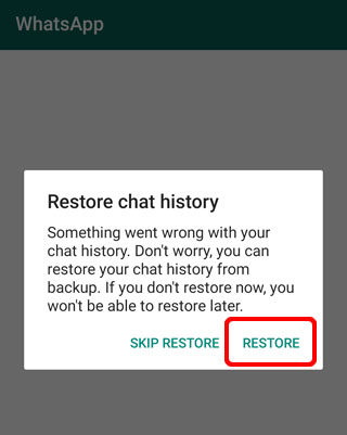 Restore WhatsApp Chat History on Android
