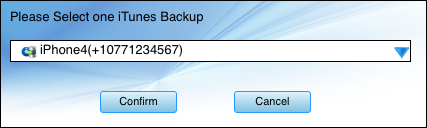confirm to get and transfer text messages from Mac iTunes backup